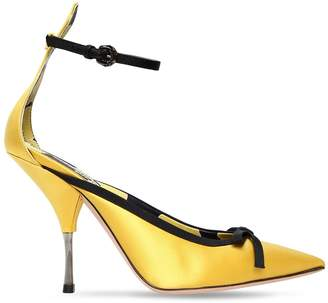 Rochas 100mm Satin Pumps W/ Bow