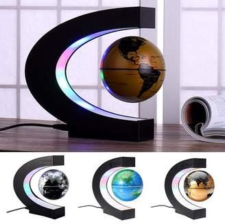 Generic C Shape LED World Map Decoration Magnetic Light Levitation Floating Globes of the World for Kids