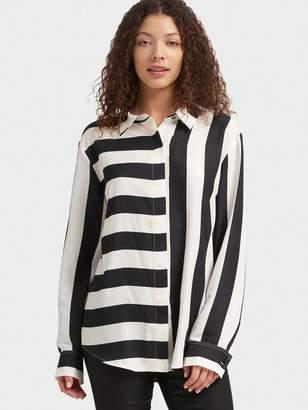 DKNY Mixed-Stripe Button-Up Shirt