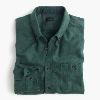 J.Crew Cotton-wool elbow-patch shirt in solid