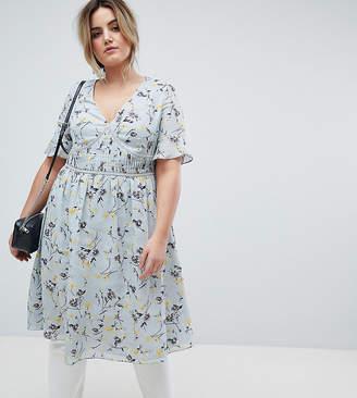 Lovedrobe Midi Tea Dress In Ditsy Floral