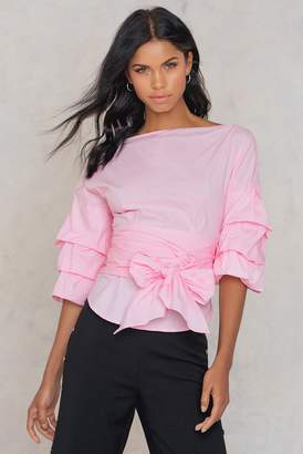 Shein Sleeve Bow Tie Blouse