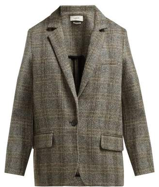 Etoile Isabel Marant Charly Single Breasted Wool Tweed Blazer - Womens - Grey
