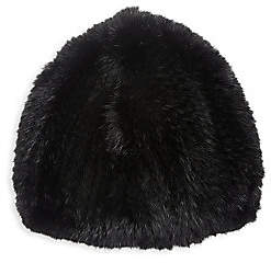The Fur Salon Women's Knit Mink Fur Beret
