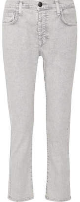 Current/Elliott The Slouchy Skinny Cropped Jeans - Gray