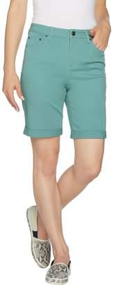 Logo By Lori Goldstein LOGO by Lori Goldstein 5-Pocket Stretch Twill Bermuda Shorts