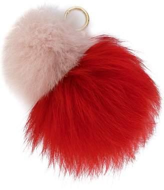 MICHAEL Michael Kors fox fur keyring
