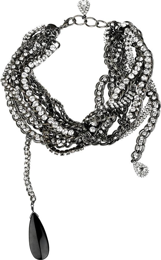 Erickson Beamon Duchess Swarovski crystal chain necklace