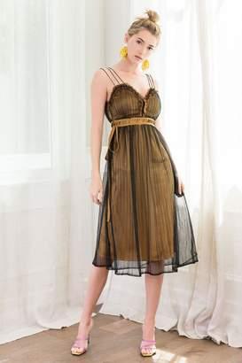 J.ING Bronze Sweetheart Midi Dress
