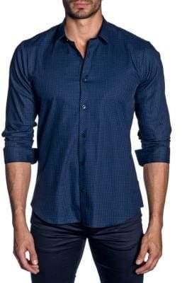 Jared Lang Woven Button-Down Shirt