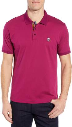 Robert Graham Easton Classic Fit Skull Applique Polo