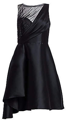 Theia Women's Faille Fit-&-Flare Cocktail Dress