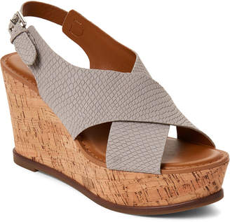 71ace10cf82 Franco Sarto Grey Mackenzie Platform Wedge Sandals