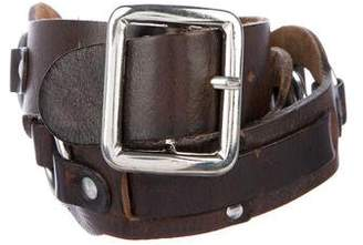 DSQUARED2 O-Ring Accented Leather Belt