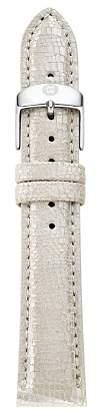 Michele Metallic Leather Strap, 18mm