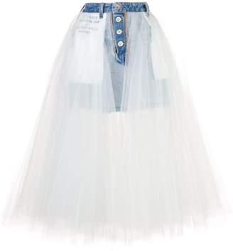Unravel Project denim tulle skirt