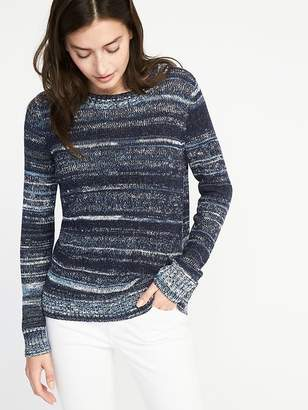 Old Navy Space-Dye Crew-Neck Sweater for Women