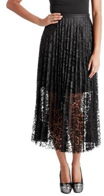 Free People Lace Pretty Pleated Maxi Skirt