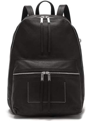 Rick Owens Leather Backpack - Mens - Black
