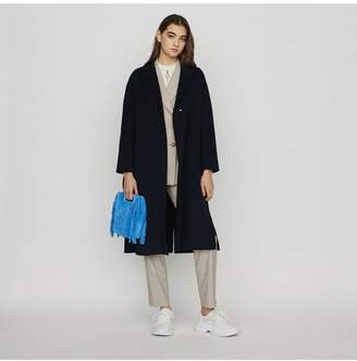 Maje Double-Face Wool Coat With Belt