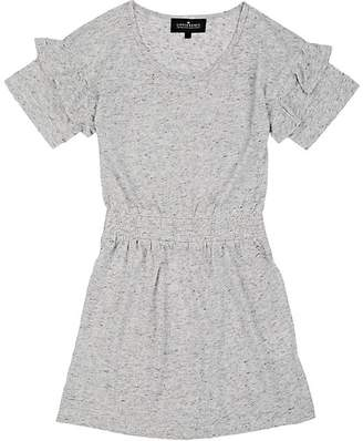 Little Remix Kids' Ruffle Slub Jersey T-Shirt Dress