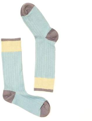 Blade + Blue Solid Light Blue with Khaki & Grey Socks