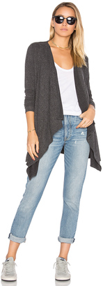 Chaser Drape Front Open Cardigan $92 thestylecure.com