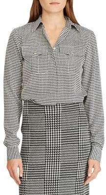 Lauren Ralph Lauren Petite Crepe Button-Down Shirt