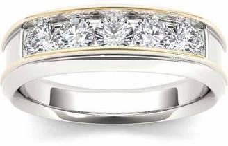 Imperial Diamond Imperial 1 Carat T.W. Diamond Yellow Two-Tone Men's 14kt White Gold Ring