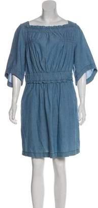 See by Chloe Ruffle-Trimmed Mini Dress