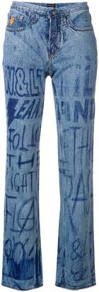 Walter Van Beirendonck Pre-Owned ink writing jeans