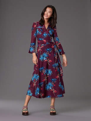 Diane von Furstenberg Collared Wrap Dress Cover-Up