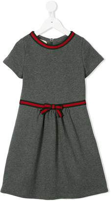 Gucci Kids Web trim midi dress