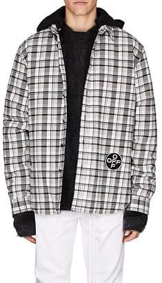 Off-White Men's Cotton-Blend Flannel Shirt