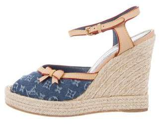 Louis Vuitton Monogram Idylle Espadrille Wedges