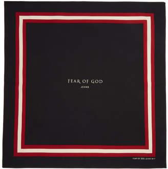 Fear Of God Black Logo Bandana
