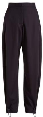 Stella McCartney Yesenia Drawstring Cuff Trousers - Womens - Navy