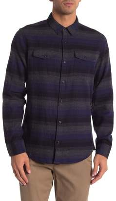 WALLIN & BROS Long Sleeve Front Button Ombre Knit Shirt