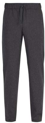 A.P.C. Kaplan Wool Blend Flannel Trousers - Mens - Black