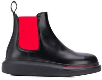 Alexander McQueen rubber sole Chelsea boots