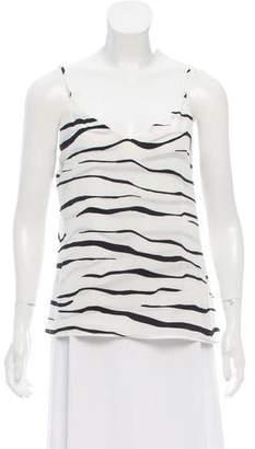 L'Agence Silk Printed tank top
