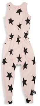 Nununu Little Girl's & Girl's Star Romper
