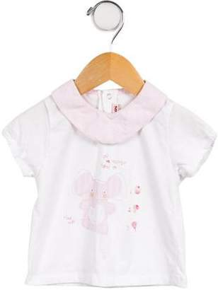 Catimini Girls' Collared Short Sleeve Top