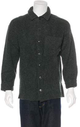 Luciano Barbera Wool Button-Up Shirt