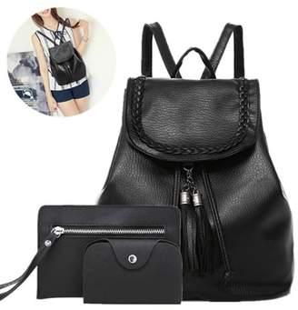 Ldgt LDGT 3pcs Women Backpack Travel Handbag Rucksack Shoulder Bag