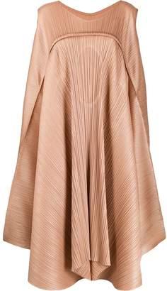 Pleats Please Issey Miyake asymmetric pleated dress