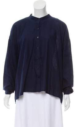 Eileen Fisher Long Sleeve Button-Up Top