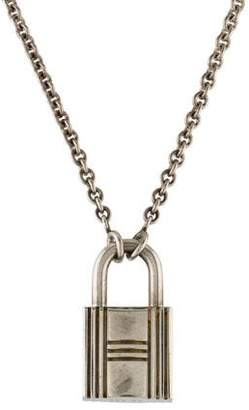 Hermes Cadenas Kelly Lock Pendant Necklace