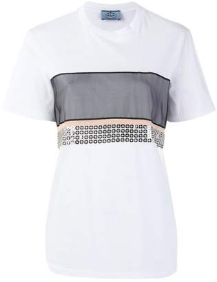 Prada sequin panel T-shirt