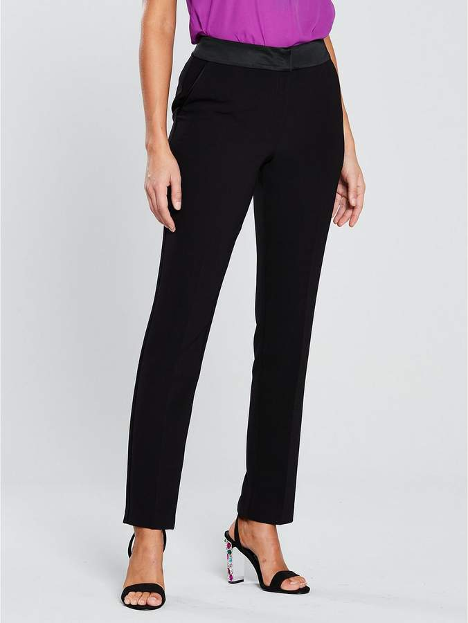 Skinny Tux Suit Trouser - Black